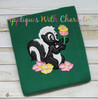 Bambie Flower Skunk Full Body Applique Design