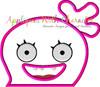 Ugly Doll Moxy Peeker Applique Design