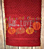 Fall in Love Bean Stitch Embroidery Design