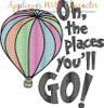 Seuss Oh The Places You'll Go Sketch Design