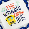 Wheels on the Bus Nursery Rhyme Applique Design