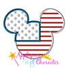 11 World Flag Mr Mouse Head Applique Set