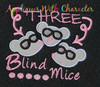 Three Blind Mice Nursery Rhyme Applique Design