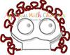 Virus Germ Peeker Applique Design