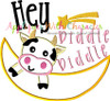 Hey Diddle Diddle Applique Nursery Rhyme Design
