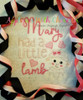 Mary Had a Little Lamb Sketch Stitch Nursery Rhyme Design