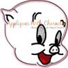 Porky Pig Peeker Applique Design