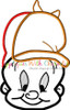 Elmer Fudd Full Face Applique Design