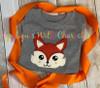 Woodland Fox Peeker Applique Design