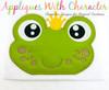 Frog Prince Peeker Applique Design