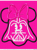 Miss Mouse Darth Vader Star Battle   Applique Design
