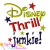 Disney Thrill Junkie Saying Applique Design