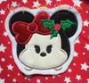 Christmas Miss Mouse Tsum Tsum Applique Design