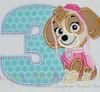 Pup Patrol 9 Applique Design Set