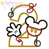 Mr Mouse Two Applique Design