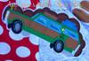 Christmas Vacation Wagon Applique Design