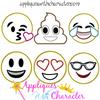 Emoji 6 Applique Design Set