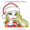 Rapunzella Christmas Bust Applique Design