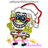 Spongebobby Christmas Applique Design Set