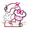 Miss Mouse Two Applique Design