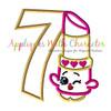 Shopkin Lippy SEVEN Applique Design