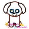 Beanie Dog Applique Design