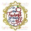 Snow Girl Exclusive Fairest Of All Mirror Applique Design