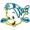 Mermaid Flounder Applique Design