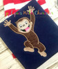 Curious Monkey Applique Design