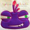 Monster Randy Emoji Applique Design