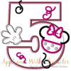 Miss Mouse Five Applique Design