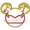 Honey Bear Mr Mouse Head Applique Design