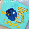 Dorie Three Applique Design