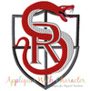 School Of Rockers Badge Applique Design