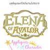 Eleena Of Avalor Logo Applique Design