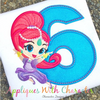 Shimmy Genie Six Applique Design