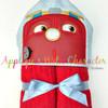 Chug Red Train Peeker Applique Design