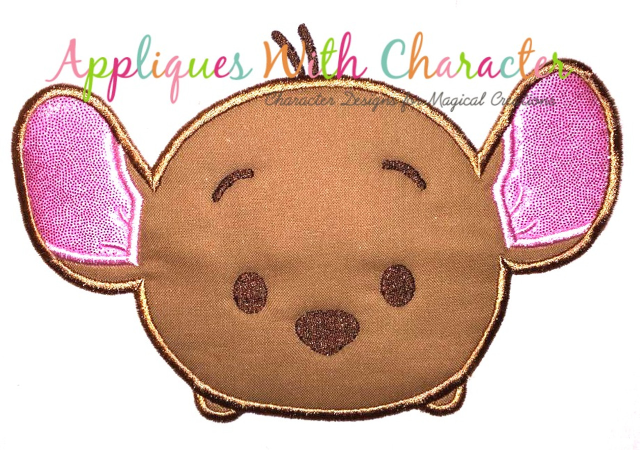 Winnie bear kangaroo tsum tsum applique design