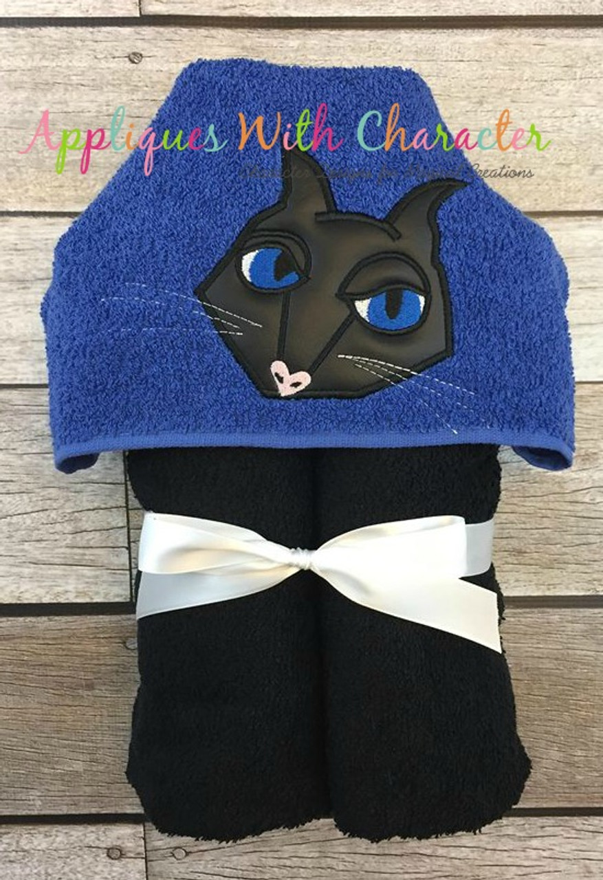 Coraline Black Cat Peeker Applique Design By Appliques With Character