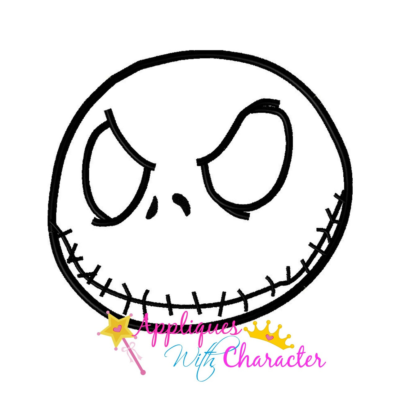 Nightmare Before Christmas Jack Peeker Applique Design by Appliques ...