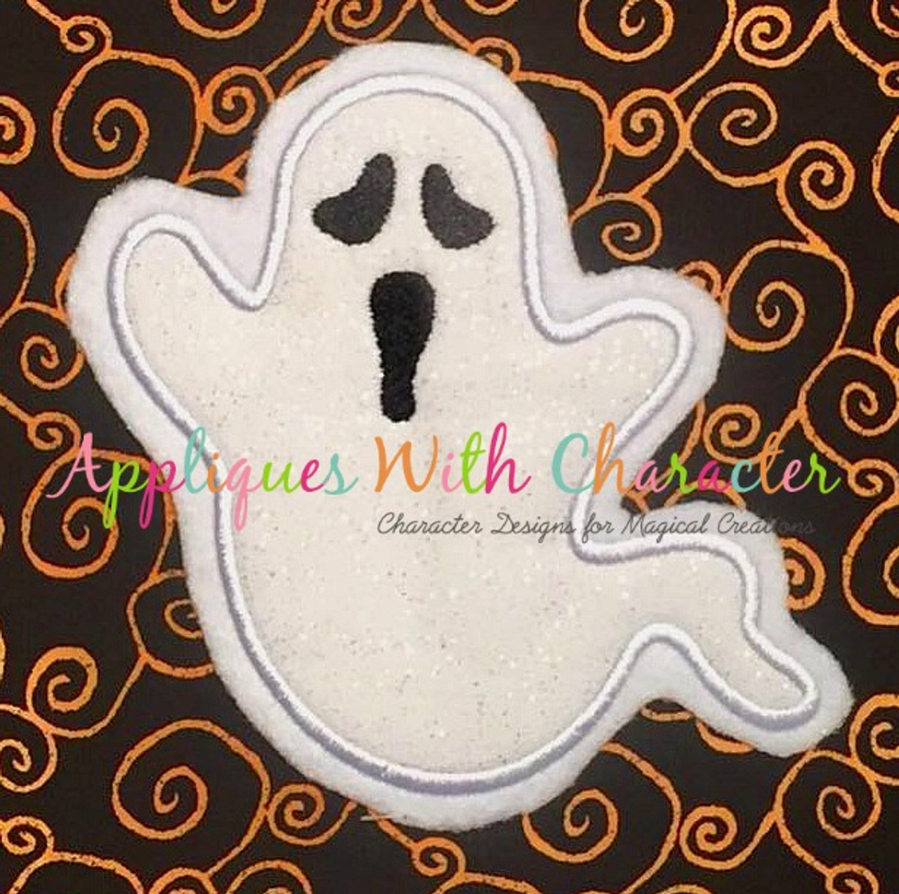 Ghost Embroidery design files