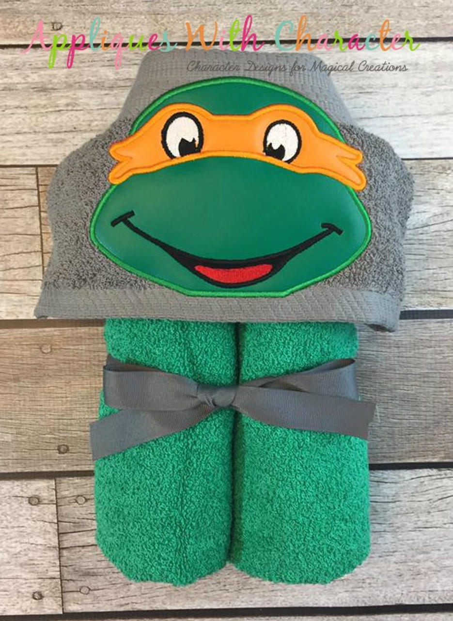 Michael Ninja Hero Turtle Peeker Applique Design