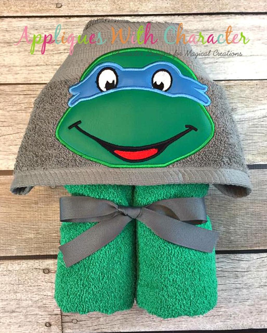 Leonard Ninja Hero Turtle Peeker Applique Design