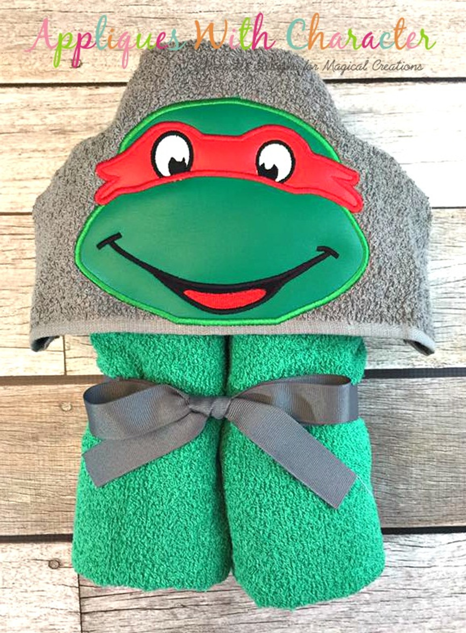 Ralph Ninja Hero Turtle Peeker Applique Design