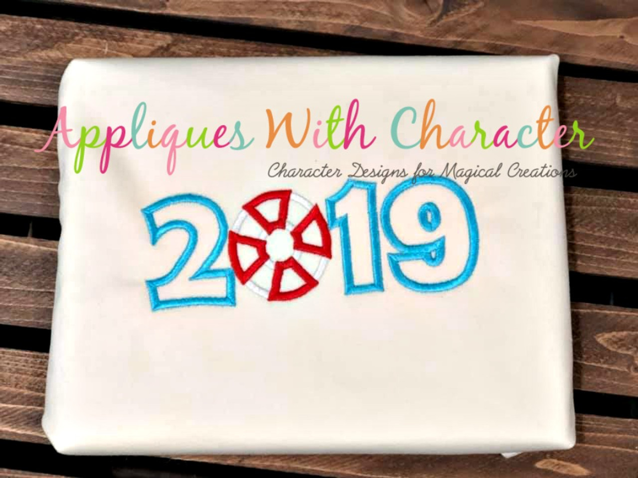 Cruise applique design by appliques with character