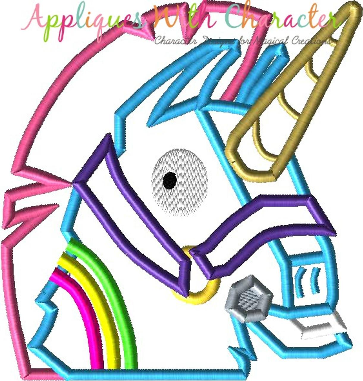 Fortnite Unicorn Peeker Applique Design