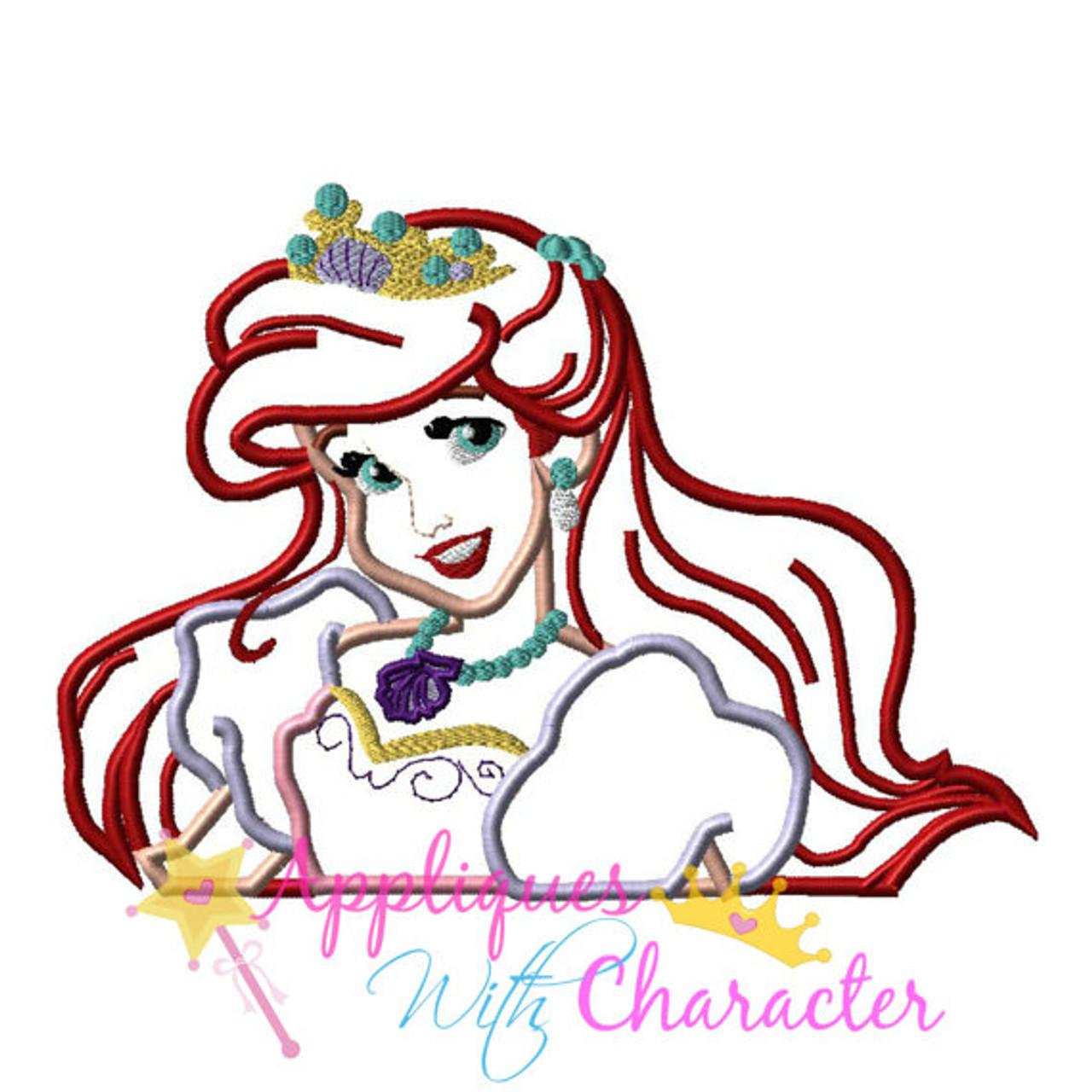 Disney Princess ARIEL The Little Mermaid  Appliques