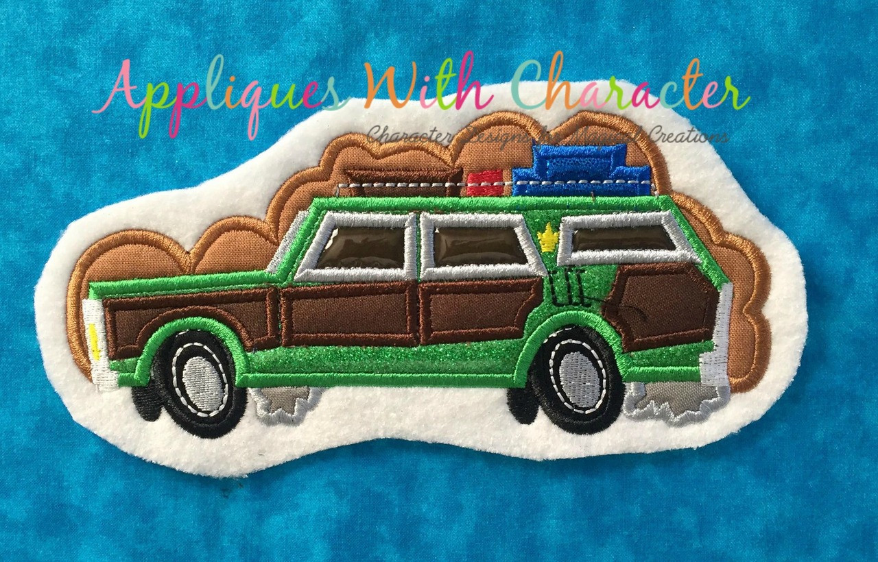 Christmas Vacation Car.Christmas Vacation Wagon Applique Design