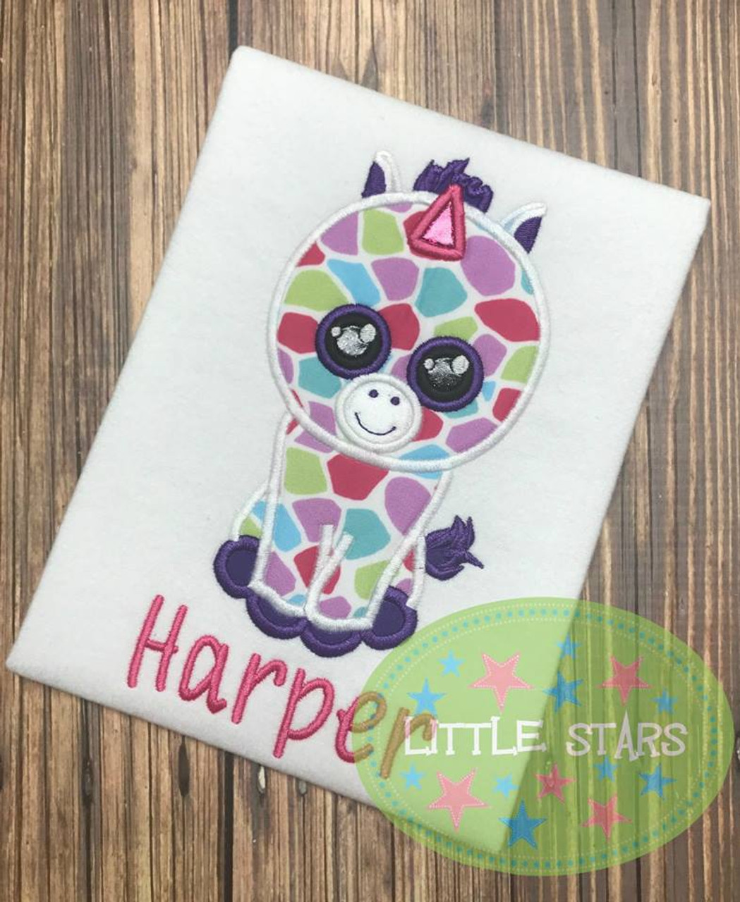 b5b04c1a66a Beanie Boo Pink Zebra Applique Design by Appliques With Character
