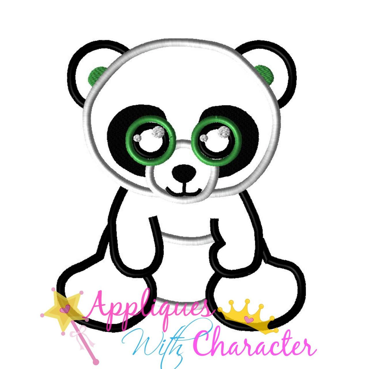 c803981ce1e Beanie Panda Bear Applique Design  Beanie Panda Bear Applique Design ...